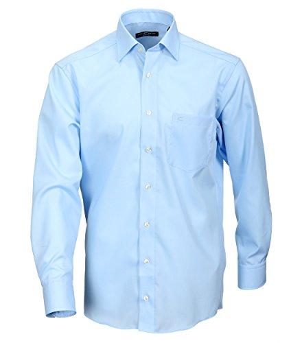 Casa Moda - Comfort Fit - Bügelfreies Herren Business langarm Hemd verschiedene Farben (006050), Kragenweite:54;Farbe:Blau (14)