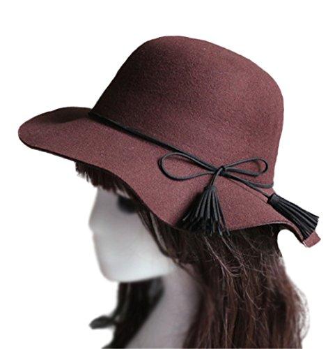 �dchen Breiter Krempe Herbst Winter Schick Filz Hut, Multi-Farbe (Flapper Hut)
