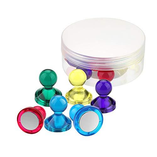 Wukong Neodym Magnete - 7 Stück Edelstahl Magnete 27.5 x 33mm mit Aufbewahrungs Box, Klein Extrem Stark N52 Magnete für Pinnwand, Whiteboard, Kühlschrank, Magnettafel