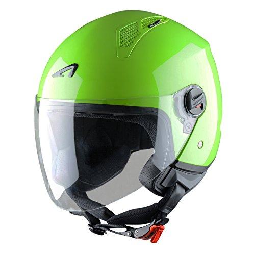 Astone Helmets Mini Jet Army Casco Jet, color Verde Manzana, talla M