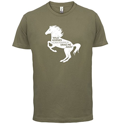 Wildes Pferd - Herren T-Shirt - 13 Farben Khaki