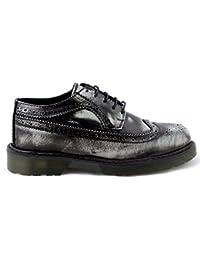 Scarpe uomo Sneakers stringate borchiate bassa vera pelle nere blu con borchie made in italy 41