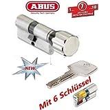 ABUS EC550 Profil-Knaufzylinder Länge Z40/K50mm mit 6 Schlüssel