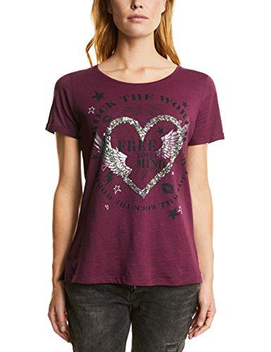 Street One Damen T-Shirt Violett (Master Wine 31018)