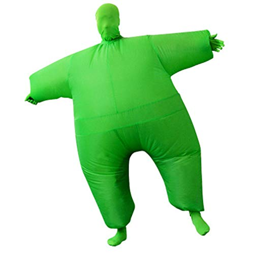 LOVEPET Parodie Erwachsenes Aufblasbares Kostüm Verdeckte Ninja Aufblasbare Weihnachtshalloween-Partei-Partei-Förderungs-Kostüm-Abendkleid-Requisiten (Ninja Green Halloween-kostüme)