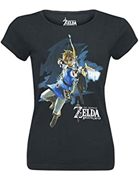 The Legend of Zelda Breath Of The Wild - Link With Arrow Camiseta Mujer Negro