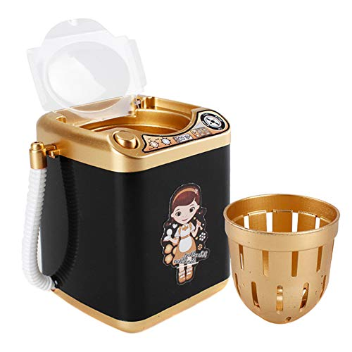 Klinkamz Mini-Multifunktions-Waschmaschine, Spielzeug für Kinder, Schönheitsschwamm, Bürsten Schwarz