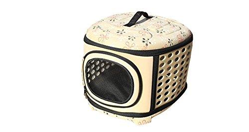 Pet Carrier EVA Small Dog Cat compagnia aerea Approvato borsa portatile per la corsa esterna Camminare Escursionismo , yellow , l