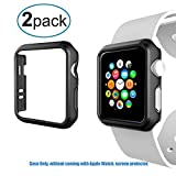 Greallthy Apple Watch Series 2 Hülle 42mm, Schlank Stoßfest Leicht Robustes Polycarbonat Hartschalen-Schutzhülle Apple Watch Stoßstange für Apple Watch Series 2 & 3,42mm