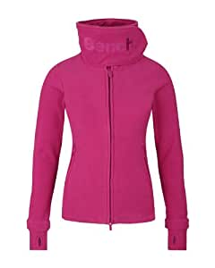 Bench Fleecejacke Funnel Neck - E - Sweat-Shirt Femme, Rose (Festival fuchsia) - XS (Taille fabricant: XS)