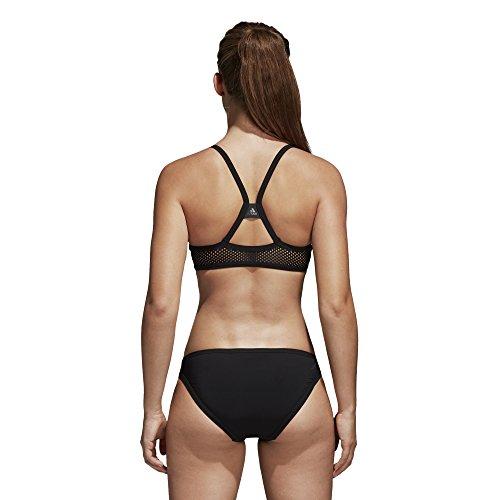 adidas Damen Solid Bikini Black/Night Metallic