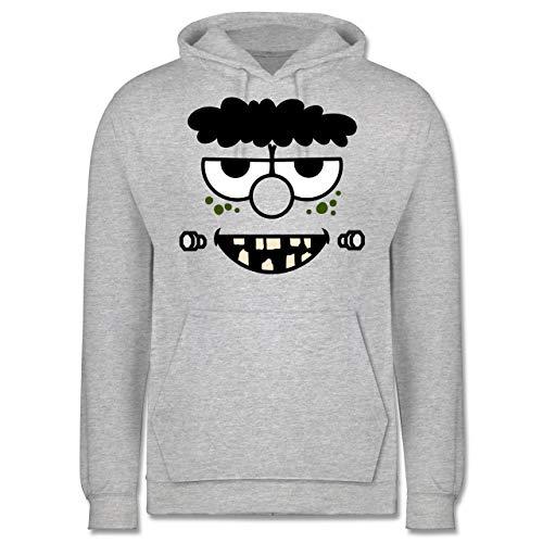 Shirtracer Karneval & Fasching - Frankensteins Monster - Karneval Kostüm - 5XL - Grau meliert - JH001 - Herren (Kid Frankenstein Kostüm)