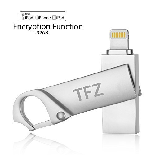 Lanyard 5 I Pod (i Flash Drive 32GB USB Memory Stick [Apple MFi Zertifiziert] TFZ Lightning Connector Externer Speicher Flash Laufwerk Schlüsselanhänger mit Passwortschutz für iPhone iPad iPod Mac Laptop PC)