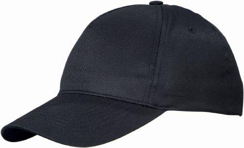 US BASIC 5 PANEL CHILDRENS BASEBALL CAP HAT - 13 COLOURS (BLACK)