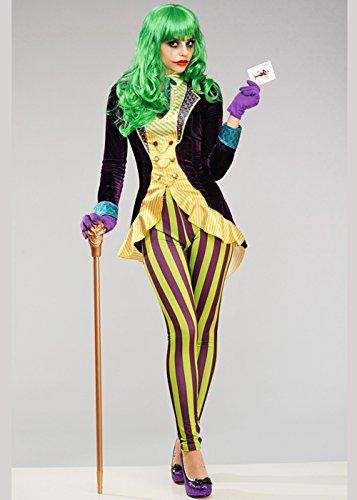 8in1 Damen Deluxe Das Joker Style Kostüm XS (UK6-8)