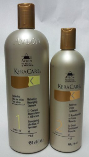 Avlon Keracare Sulfate Free Hydrating Shampoo 32 Oz. And Humecto Creme Conditioner 16 Oz. by Avlon
