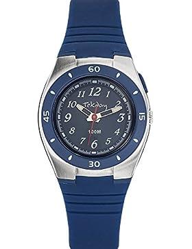 Tekday–653852–Armbanduhr–Quarz Digital–Zifferblatt Blau Armband Silikon Blau