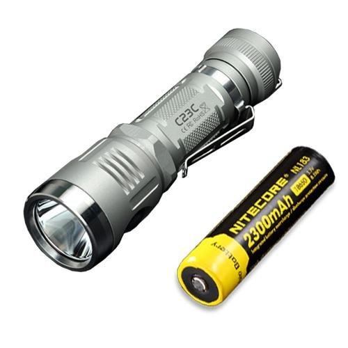 Bundle: Sunwayman C23C Flashlight w/ NL183 Battery -Available in Grey or Black -