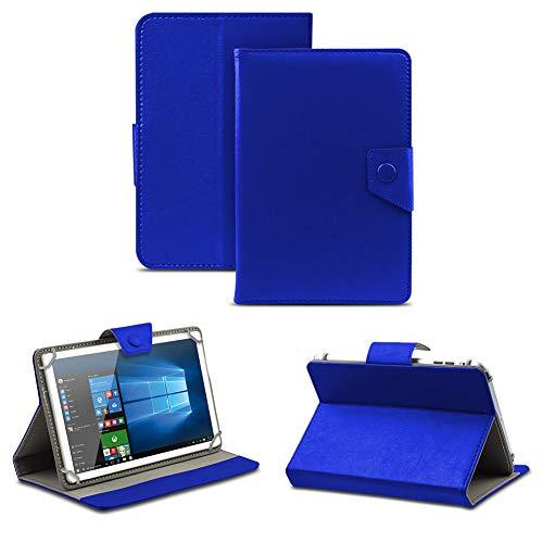 NAUC Universal Tasche Schutz Hülle Tablet Schutzhülle Tab Case Cover Bag Etui 10 Zoll, Tablet Modell für:Medion Lifetab S10346, Farben:Blau mit Magnetverschluss