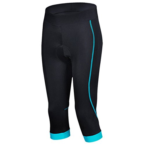 Smartstar - Culottes 3/4'pantalon Femme sport coussinets en silicone cyclisme, short professionnel cyclisme, montagne, vélo de route de la saison d'été vêtements de sport et de l'équipement - Taille S - Bleu