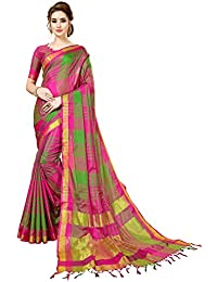 ANNI DESIGNER Cotton Silk Saree with Blouse Piece