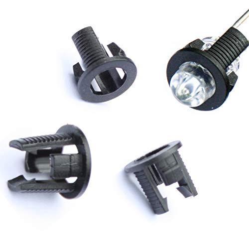 Sockel-montage-halterung (100 x LED Einbauclip 5 mm Montage Halterung Fassung Einbaurahmen Montagering)