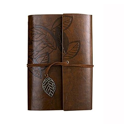 Retro PU Notebook A6 lose Buch Reise Kiwi Papier kreative Tagebuch ( Farbe : Braun )