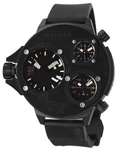 Welder by U-Boat K30 Oversize Triple Time Zone Black Ion-plated Steel Mens Sport Watch K30-9001