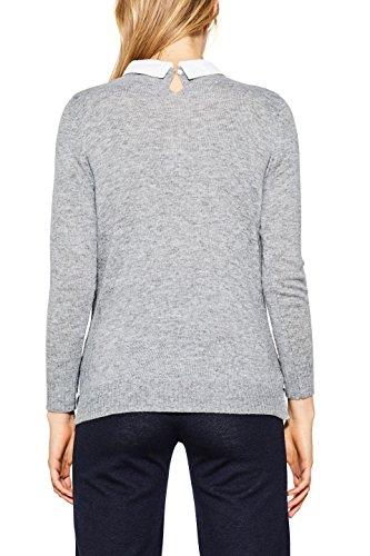 Esprit, Pull Femme Gris (Grey 5 034)
