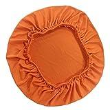 FLAMEER 1 Stück Stretch Stuhlhusse Stuhlbezug Sitzbezug Sitzauflage für Stuhl Hocker - Orange