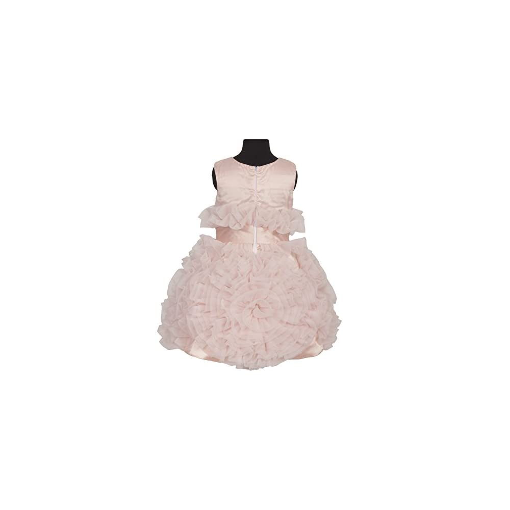 f9cade0485fc SOFYANA Kids Girls Tissue and Net Birthday Party Wear Frock Dress ...
