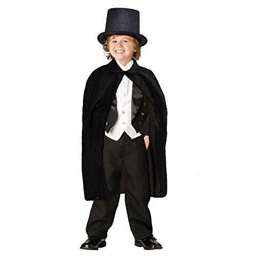 Dazzling toys mantello e cappello da mago per bambini nero (d127)