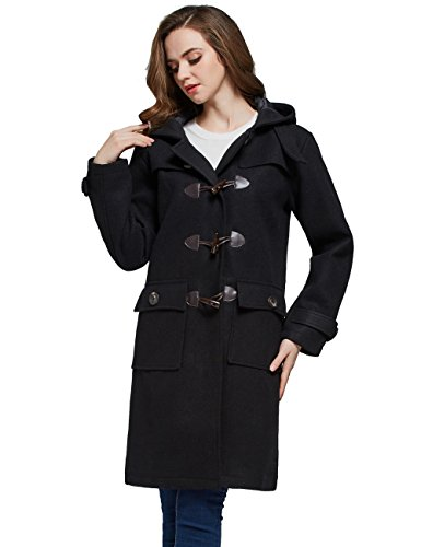 aabd7358d89ca3 Camii Mia Mia - Cappotto - Montgomery - Donna nero... - Abbigliamento