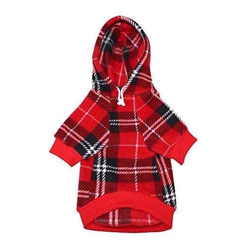 zyxbj felpa cappuccio cane sport dog hoodie animale domestico autunno inverno cappotto caldo vestiti cani cotone tinta unita tasca tuta pullover outdoor cani piccola tagliared-xl