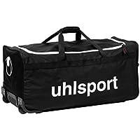 UHLSPORT - BASIC LINE 110 L SAC A ROULETTES - Sac à roulettes - Grande Contenance - Bandoulière Ajustable - noir/blanc
