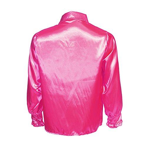 s Disco Rueschenhemd Kostuem Glanz Schlager Hemd Party Retro Herrenhemd Herren Kostuem (Das 70er Kostüme)
