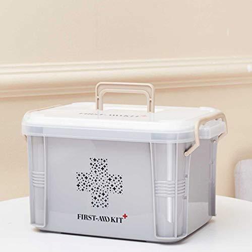 41mOPVwDauL - Laurelmartina Diseño práctico para Uso en el hogar Botiquín de Primeros Auxilios Caja de plástico Botiquín de plástico Kit de Emergencia Organizador de Almacenamiento portátil