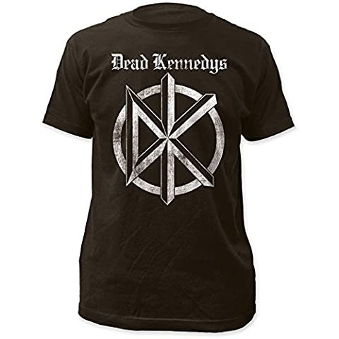 Dead Kennedys - Mens Distressed Old English Logo Fitted T-Shirt,