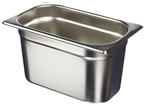 Vogue K820 Stainless Steel 1/4 Gastronorm Pan, 150 mm Height, 4 L Capacity