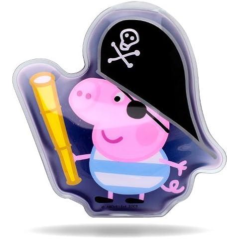 Peppa Pig - Parche de gel para calmar heridas y rasguños infantiles, diseño de George pirata