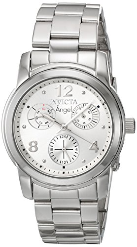 Invicta Women's 'Angel' Quartz Stainless Steel Casual Watch, Color:Silver-Toned (Model: 19022)