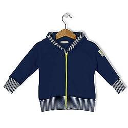 bubble.kid berlin - Baby Mädchen Jungen Unisex Hoodie Kapuzenjacke Jacke - weicher Warmer Sweatshirt, Zipfelkapuze, elastische Bequeme Bündchen Größe: 86/92 (1-2 Jahre), Farbe: Tinte
