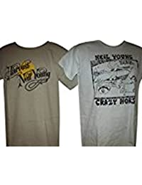 Mens Neil Young Twin Set T Shirts Harvest & Crazy Horse