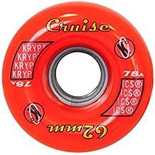 Kryptonics Roller Cruise Ruedas, Rojo, 62 mm