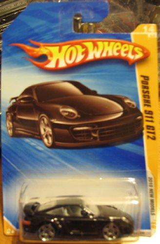 Hot Wheels 2010Porsche 911GT2New Models Black # 014(lang Card Version)