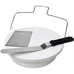 """JUSLIN 11 """"Giradischi rotante per torta e spatola per torta, raschietto per torta, livellatrice per torta, materiale per la decorazione di torta"""