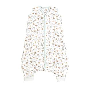 Saco de dormir de verano Slumbersac, con agujeros para los pies y diseño de ositos de peluche, 1,0 tog Talla:4-5 años