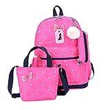 Pwtchenty Schultaschen Anti-Diebstahl Tagesrucksack Damen Rucksack Wasserdichte Nylon...