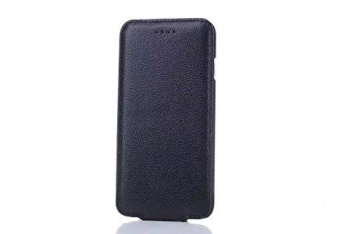 EKINHUI Case Cover Vertikaler Flip Case, Luxus Premium Echtes Leder Gehäuse Shell Abdeckung Magnetverschluss Design Für IPhone 6 & 6s ( Color : Rose ) Black