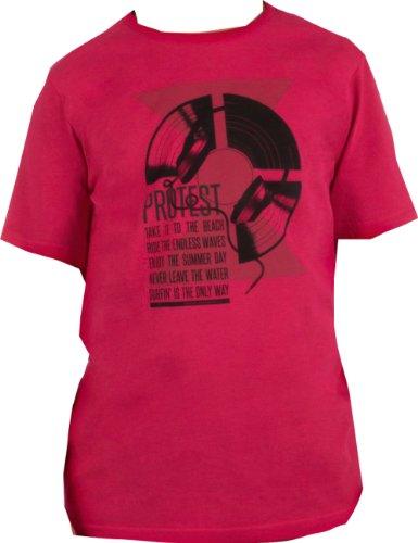 Protest -  T-shirt - Azteco - Collo a U  - Maniche corte - ragazzo rosso 4 anni